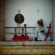 Photo of the Week – Man Simulating Opium Smoking in Jodhpur, India